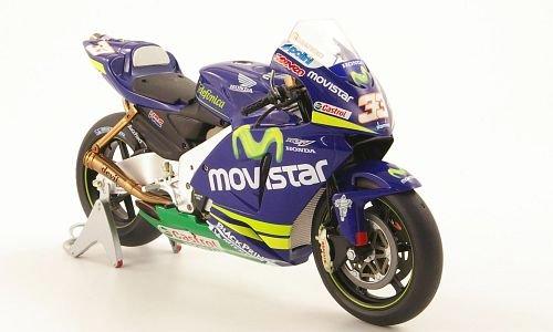 Honda RC211V, No.33, Movistar, M.Melandri, MotoGP, 2005, Modellauto, Fertigmodell, MCW-SC48 1:12