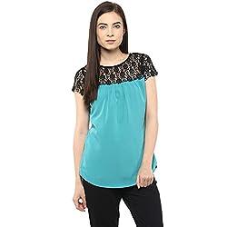 Moderno Women Net Sleeves Top - Medium