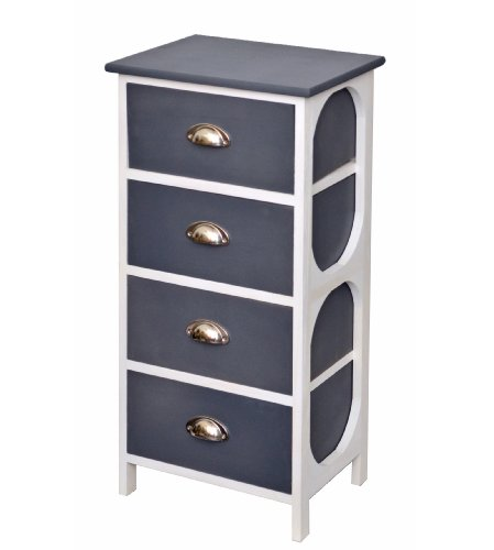 Grey rustic chest of drawers 77 cm 4 drawers for hall,living room and nursery