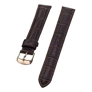 Stuhrling Original ladies 18mm brown leather strap with rose tone buckle st.107BL.1245K2