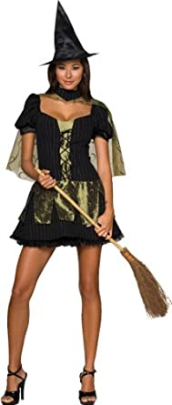 Secret Wishes  Women's Wizard of Oz Wicked Witch Of The West Costume, Black/Olive, X-Small