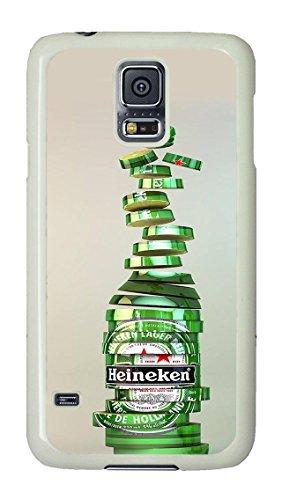 Samsung Galaxy S5 Case, S5 Case - Drop Protection Hard Case for Samsung Galaxy S5 Heineken Beer Drink Logo Brand Scratch-Resistant White Hard Back Case for Samsung Galaxy S5 (Galaxy S5 Heineken Case compare prices)