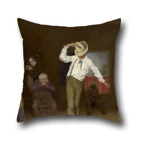 Oil Painting Charles Deas - Walking The Chalk Pillow Covers 16 X 16 Inch / 40 By 40 Cm Gift Or Decor For Teens Girls,pub,home,sofa,festival,teens Boys - 2 Sides