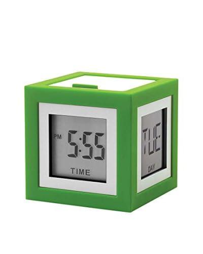 Lexon Cubissimo Clock, Green