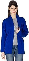 Priknit Women's Long Sleeve Cape (IH-C1-M R BLUE, R Blue, M)