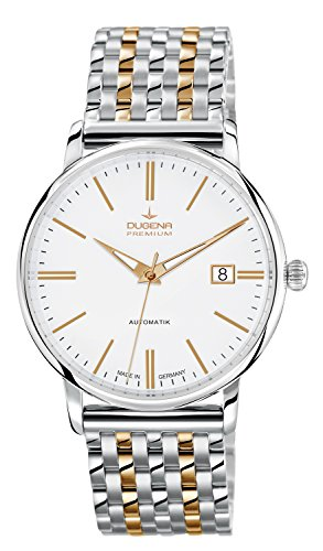 Dugena Herren-Armbanduhr FESTA Automatik Analog Automatik Edelstahl beschichtet 7090191