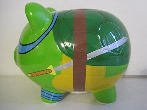 Teenage Mutant Ninja Turtles Leonardo Ceramic Piggy Bank, Leo Coin Bank, TMNT Coin Deposit