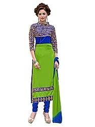 Shayona New Designer Fancy Look Semi Stitchd Salwar Suit
