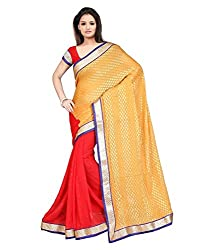 My online Shoppy Chiffon Saree (My online Shoppy_78_Yellow)