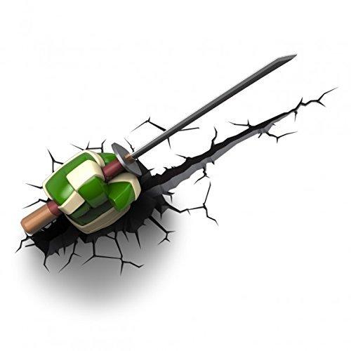 Teenage Mutant Ninja Turtles 3D Wall Art Nightlight - Leonardo Weapon