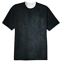 Snoogg Metal Textures Mens Casual All Over Printed T Shirts Tees