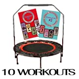 Urban Rebounding Folding Trampoline Workout System with DVDs