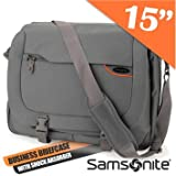 Samsonite Pro Deluxe Steel Grey Business Laptop Bag Case