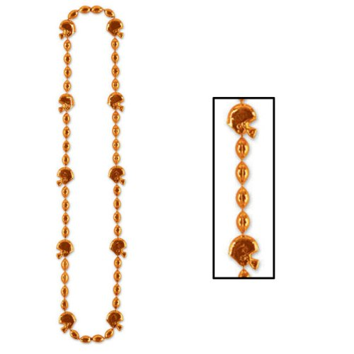 Football Beads (orange) Party Accessory  (1 count) (1/Card) - 1