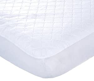 Carter's Keep Me Dry Waterproof Fitted Quilted Crib Pad, White