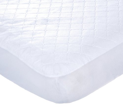 Carters Keep Me Dry Waterproof Fitted Quilted Crib Pad, White