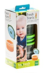 Fresh Starts Smart Portions 1-Cup Chilled Lunch Containers with Removable Ice Packs (Pack of 4)