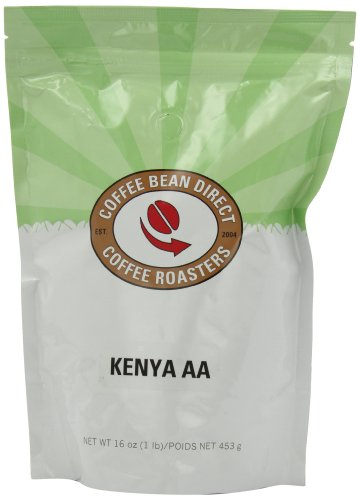 Coffee Bean Direct Kenya AA, Whole Bean Coffee, 16-Ounce Bags (Pack of 3)