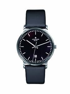 Junghans Herren-Armbanduhr XL MILANO SOLAR Analog Leder 014/4060
