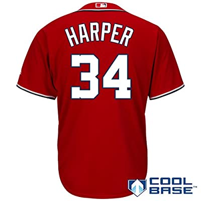Bryce Harper Washington Nationals Majestic Youth Red Cool Base Jersey