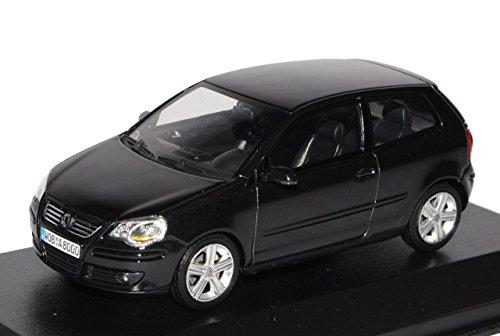 VW-Volkswagen-Polo-9N3-IV-Schwarz-2005-2009-143-Minichamps-Modell-Auto-mit-individiuellem-Wunschkennzeichen