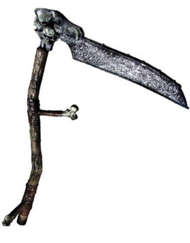 New Grim Reaper Costume Accessory Bone Scythe Sickle