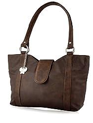 Butterflies Women's Handbag (Brown) (BNS 0298 BN)