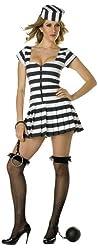 Prisoner Of Love Zipped Stripped Top, Black Skirt, Foamed Hat