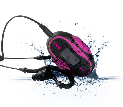 Diver (Tm) Waterproof Mp3 Player With Lcd Display. 4 Gb. Kit Includes Waterproof Earphones. New. (Pink)