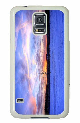 Samsung Galaxy S5 Pc White Hard Case Fire Above Ice Below front-55043