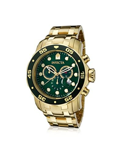 Invicta Men's 0075 Pro Diver Collection 18K Gold-Plated Stainless Steel Watch