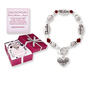 Teacher Silver & Crystal Expressively Yours Bracelet