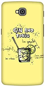 The Racoon Lean Lemon Gin and Tonic hard plastic printed back case / cover for LG G Pro Lite