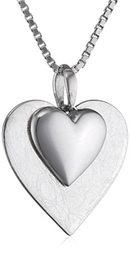 elements-sterling-silver-p2996-ladies-layered-scratch-finish-and-polished-heart-pendant-on-chain