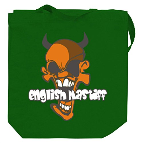 English Mastiff Devil Canvas Tote Bag