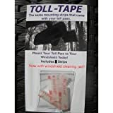 E-ZPass & I-Pass Toll Pass Mounting Strips - 8 Pack with Cleaning Pad