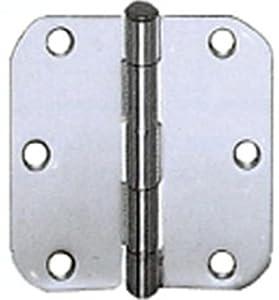 Cal Royal RH353 Plain Bearing Hinge with 5/8-Inch Radius, 3.5 by 3.5-Inch, Polished Brass