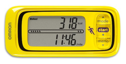 90QBR Omron HJA-301 Pace and Distance Tracker, Yellow