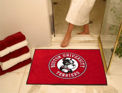 NCAA Boston University Terriers Chromo Jet Printed Area Rug Floor Mat 45