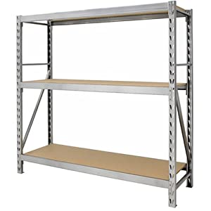 Gorilla Rack GR7300-S23 3-Shelf 77-by-24-by-72-Inch Package Rack, Silver