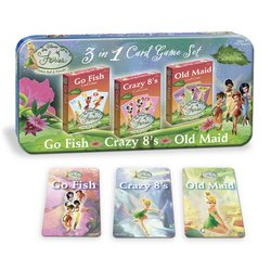 Disney Fairies 3-in-1 Card Game Set by USAopoly