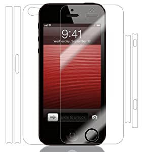 Skinomi TechSkin - Apple iPhone 5 Screen Protector Ultra Clear Shield , Full Body Protective Skin , AT&T, Sprint, Verizon Wireless