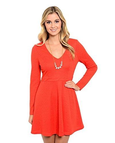 Club LA Women's Short V-Neck Dress