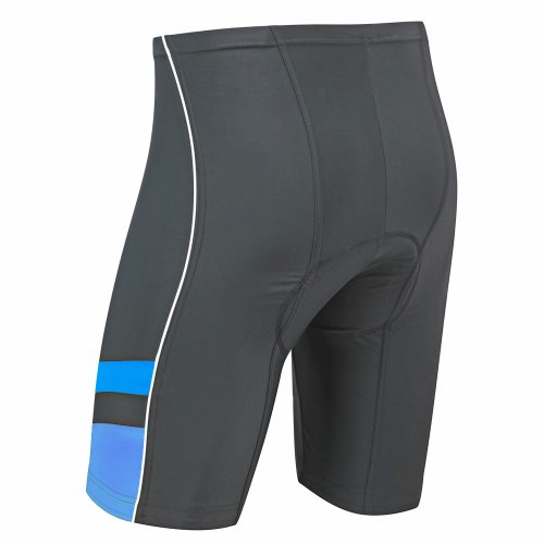 Tenn Mens 8 Panel Cycling Shorts with Professional Moulded Pad - Black/Blue