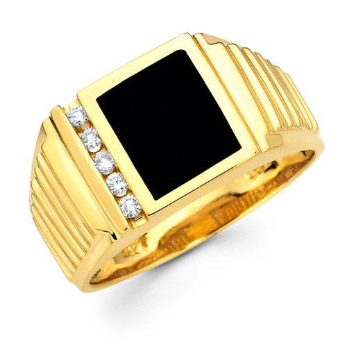 very cheap pinky rings discount mens black onyx diamond. Black Bedroom Furniture Sets. Home Design Ideas
