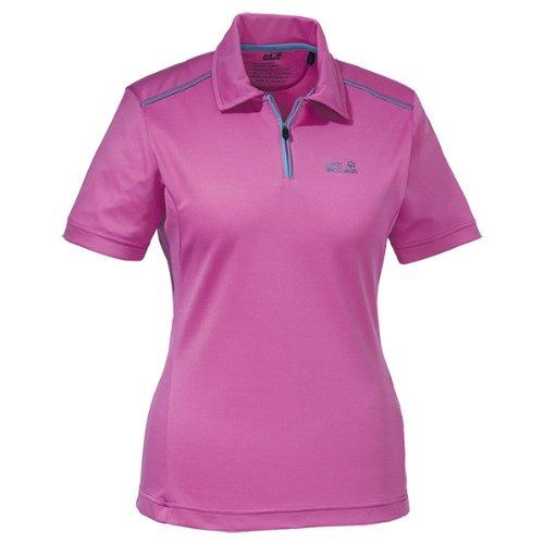 Jack Wolfskin Damen Shirt Coolmax Polo Women, Dahlia, XXL, 1802451-2041006