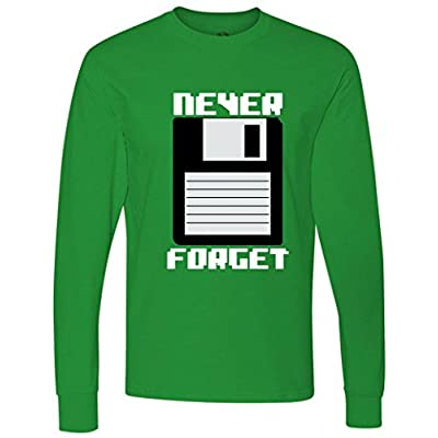 Never Forget Floppy Disc Retro long sleeve T-Shirt