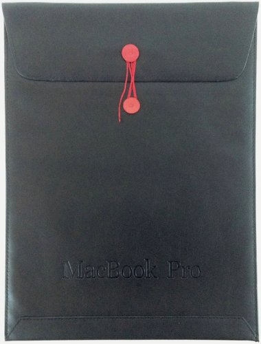 MacBook+Pro+13インチ(Retina対応)用+封筒型+PUレザー+ケース+ブラック(黒)+[MOBILE+STUDIO]