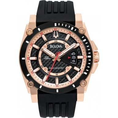 Bulova Men's 98B152 Precisionist Analog Chronograph Black Watch (Bulova Carbon Fiber Watch compare prices)