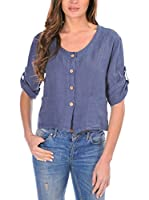 100% lino Camisa Mujer Denise (Denim)